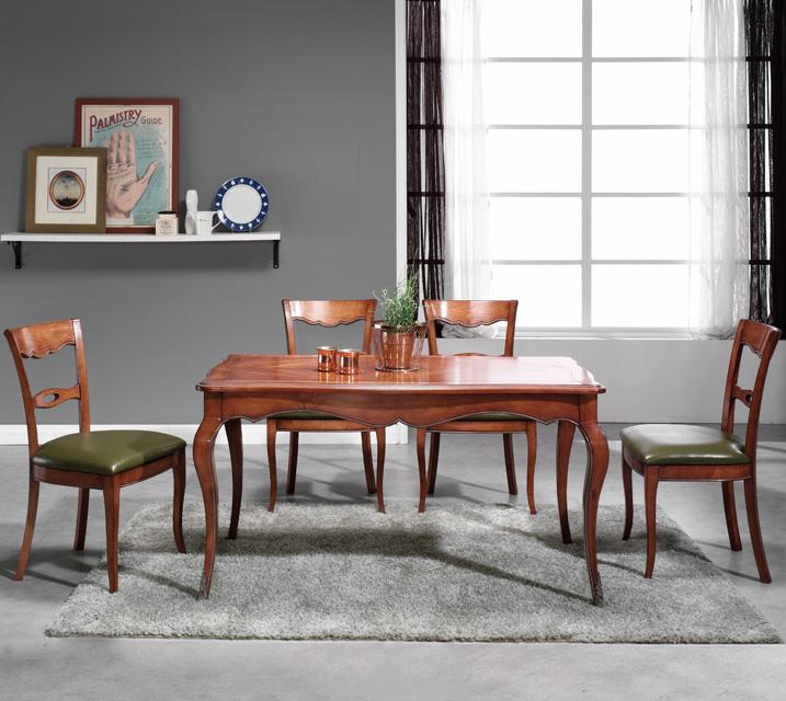 쇼콜라 프렌치 빈티지 식탁 4인세트 (의자형 / 의자4ea) / 월 65,800원