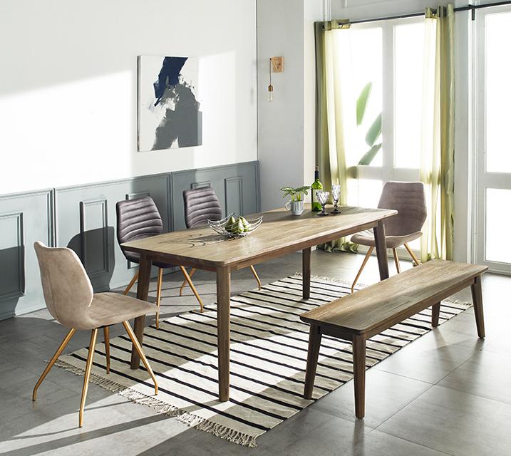 [렌탈]로이드 아카시아원목 4인식탁 세트 (의자형 / 의자 4ea) / 월 35,800원