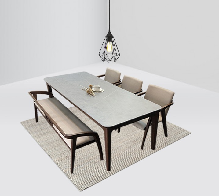 램지 6인 벤치형 세라믹 식탁 세트  / 월 65,800원