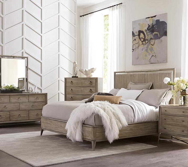 [렌탈] 50380 Sophie Panel Bedroom Q Set [침대프레임+화장대+거울+협탁] / 월 119,800원