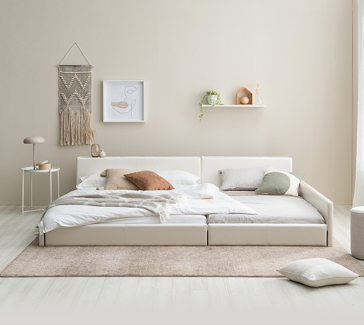 데이지 패밀리 침대 [화이트] Q+Q+PVC 깔판 / 월 49,800원