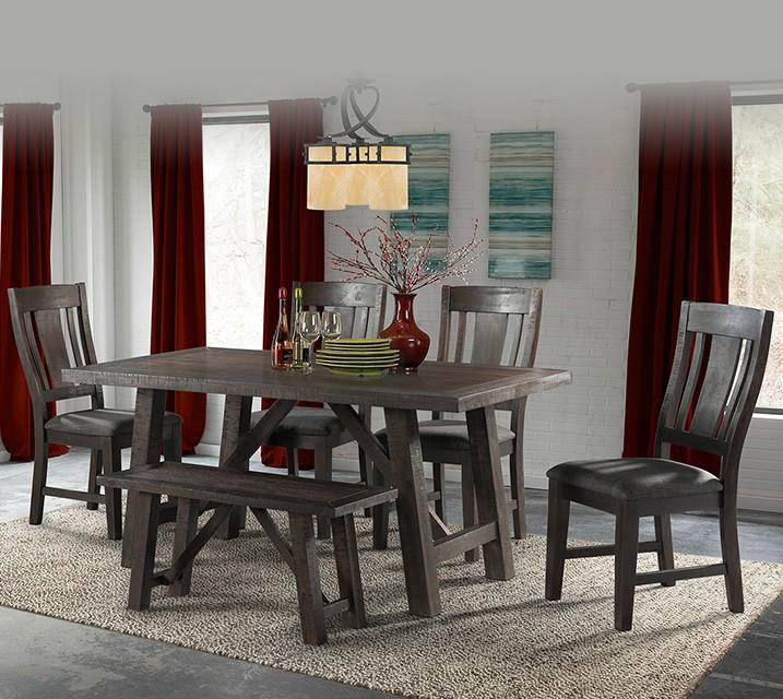 DCS100 캐쉬 컬렉션 6인 엔틱 식탁 세트 [테이블+벤치+의자 4개] / 월 69,800원