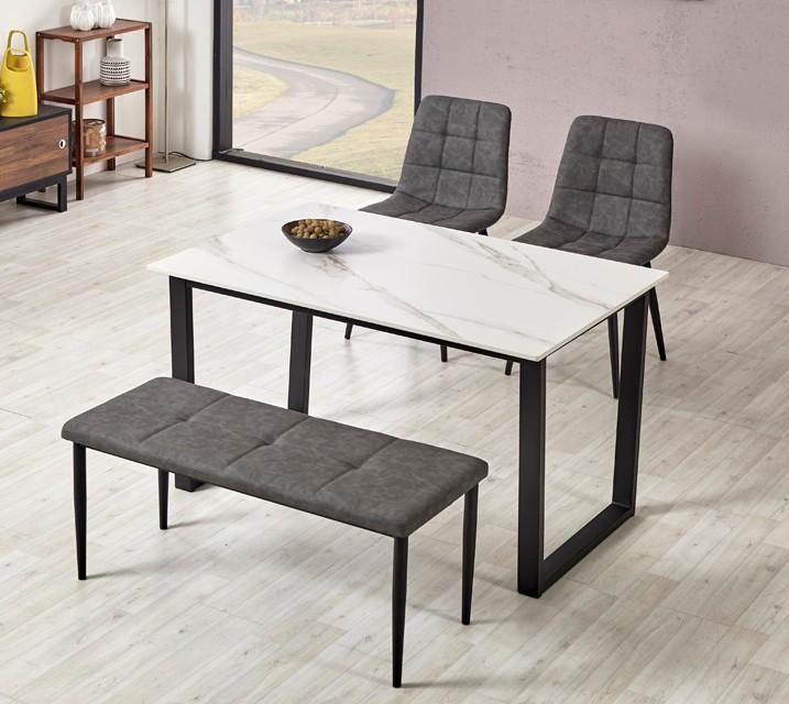 이벨린 세라믹 4인 식탁세트 + 의자/벤치포함 (벤치형/벤치1ea+의자2ea)/ 월 47,800원
