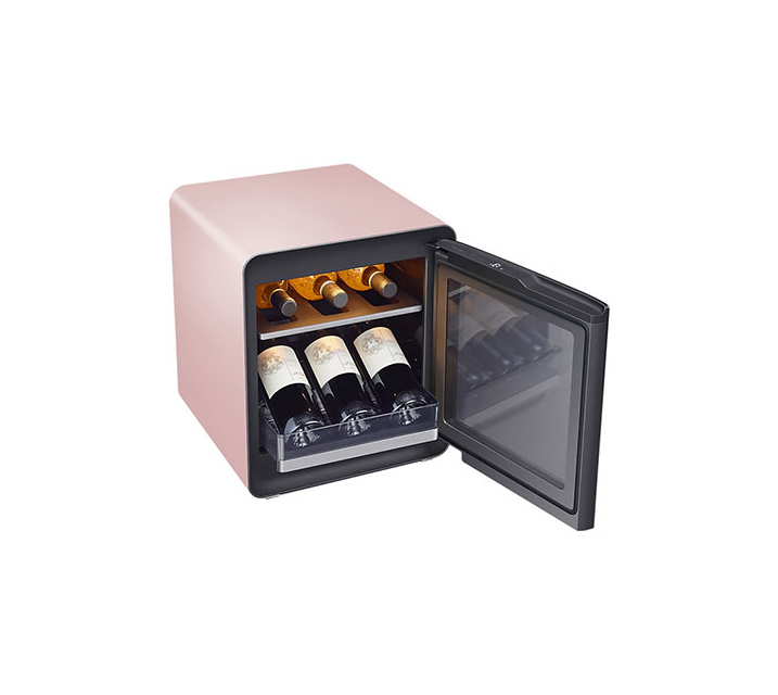 [S] 삼성 비스포크 큐브냉장고 25L+와인&비어 수납존 프라임핑크 CRS25T9500PSW / 월16,500원