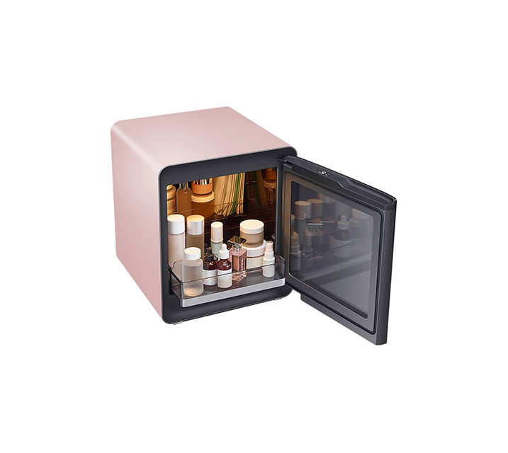 [S] 삼성 비스포크 큐브냉장고 25L+뷰티&헬스 수납존 프라임핑크 CRS25T9500PSC / 월16,500원