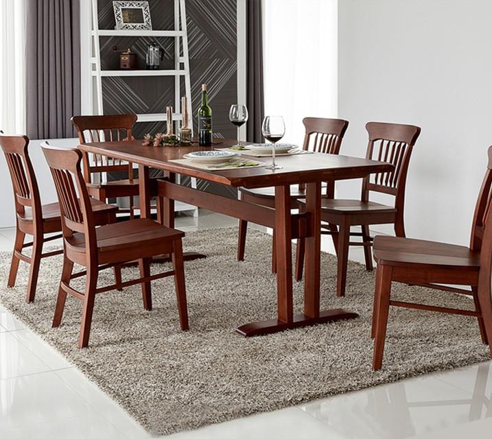 파벨 6인용 원목 의자형 식탁세트(식탁 1ea, 의자 6ea) / 월 77,800원