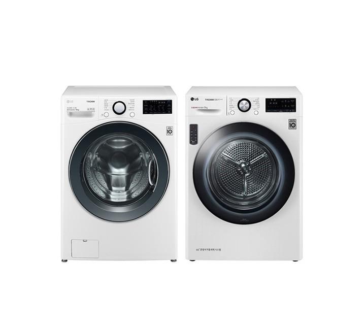 [L] LG 드럼세탁기 19kg+건조기 16kg 화이트 F19DWU(PKG) / 월 76,000원