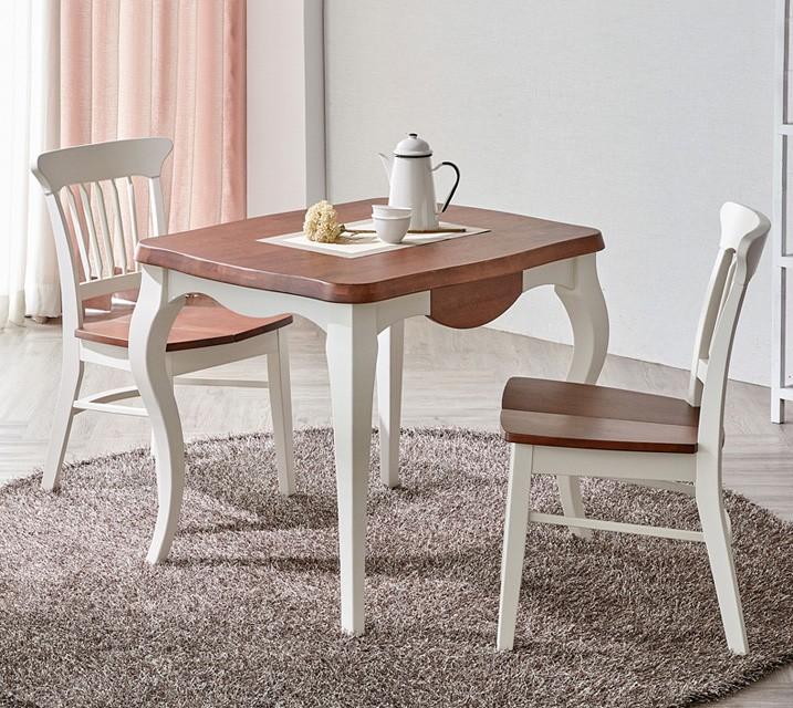 네치 2인용 원목 의자형 식탁세트(식탁 1ea, 의자 2ea) / 월 49,800원
